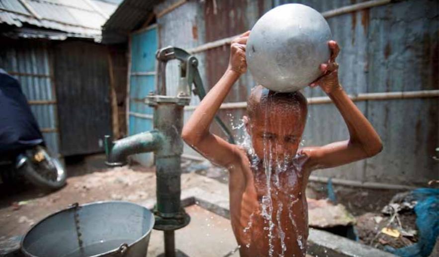 children water un